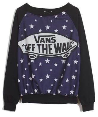 black sweater vans stars