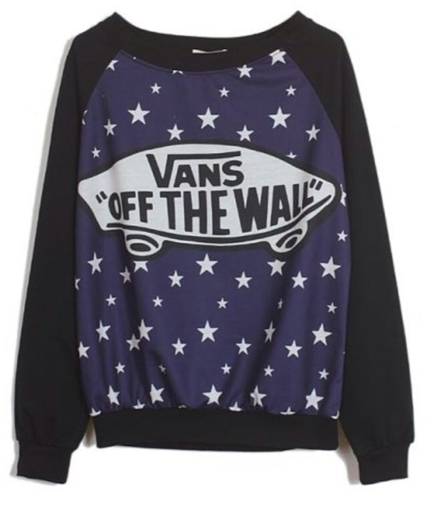 sweater vans vans black stars