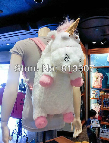 Despicable Me Unicorn Backpack Despicable Me unicorn bag plush unicorns toy backpack toys for girls kids birthday gift Retail-in Plush Backpacks from Toys & Hobbies on Aliexpress.com