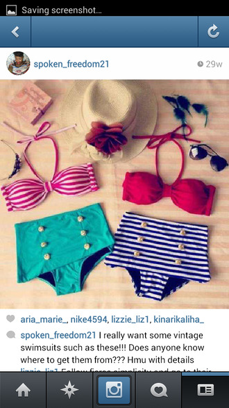 swimwear vintage swimwear high waisted bikini