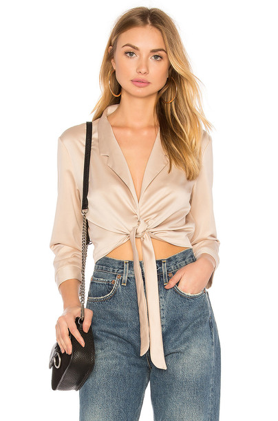 WYLDR blouse forever tan top