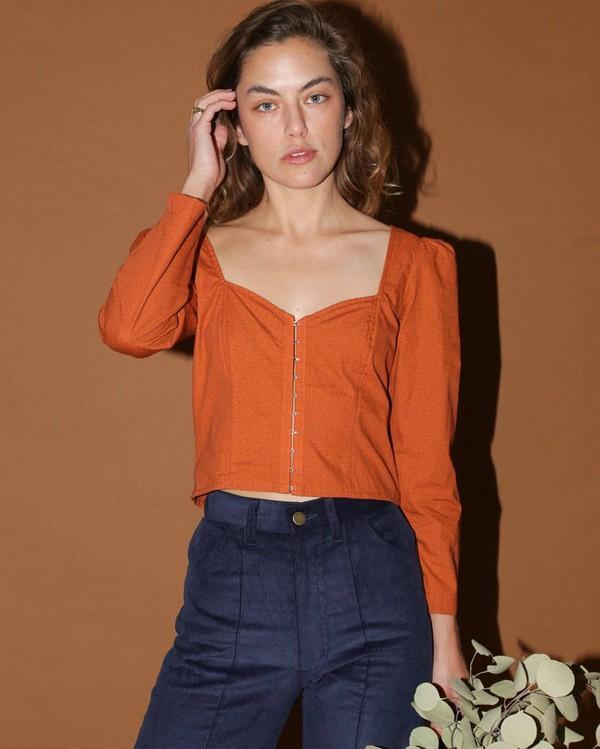 top orange top