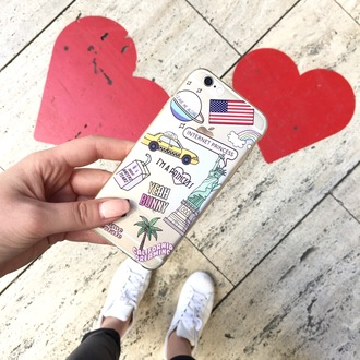 phone cover yeah bunny usa rainbow princess palm cute iphone cover iphone case