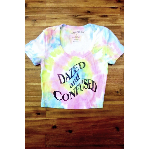 Dazed and Confused Crop Tee (Tie Dye) - Polyvore