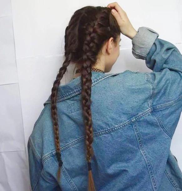 Jacket tumblr outfit grunge jean jacket blue - Wheretoget