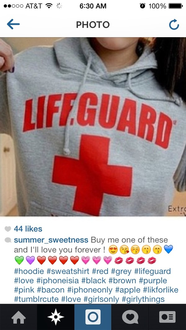 sweater lifeguard instagram
