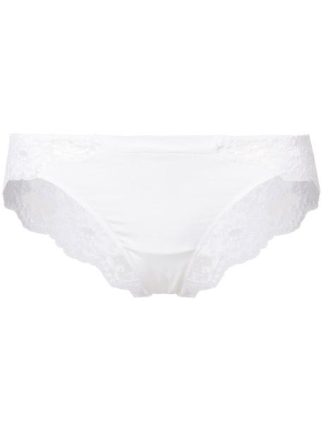LA PERLA women spandex lace floral white cotton underwear