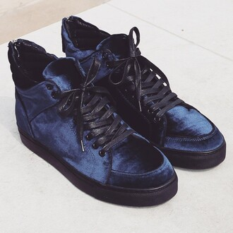 shoes maniere de voir virtue velvet midnight blue traineers sneakers
