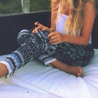 pattern boho pants paisley tribal gypsy hippie tribal pattern harem pants hand of fatima leggings black white bohemian pant
