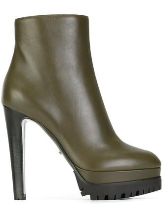 heel high heel high heel booties high booties green shoes