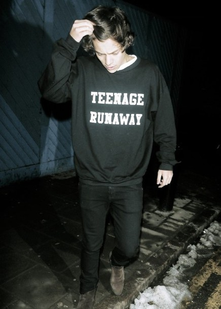 sweater one direction harry styles teenage dirtbag edit tagsOne Direction Teenage Dirtbag Edit