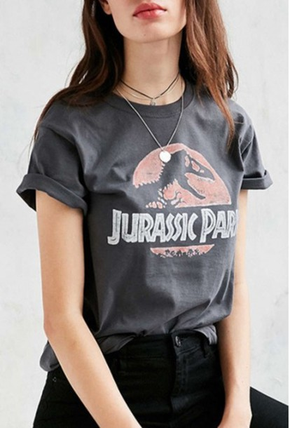 t-shirt girl girly girly wishlist jurassic park jurassic park t-shirt