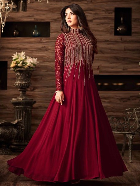 dress gown style suits designer suits partywear salwar suits indian gown online
