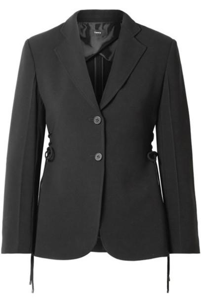 theory blazer lace black jacket