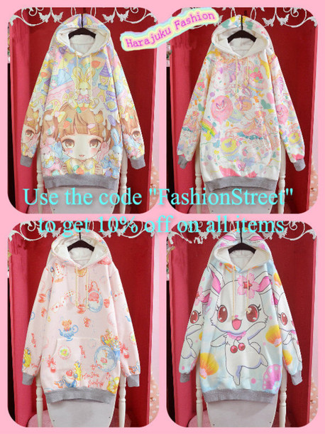 sweater 2014 new winter plus velvet cotton cute kawaii winter outfits cute harajuku jfashion anime harajuku sponsors discount shop