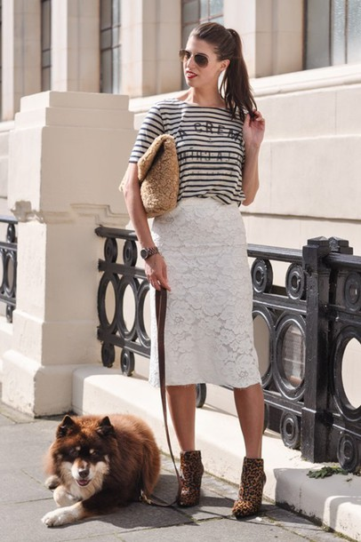 thank fifi blogger t-shirt skirt shoes bag jewels
