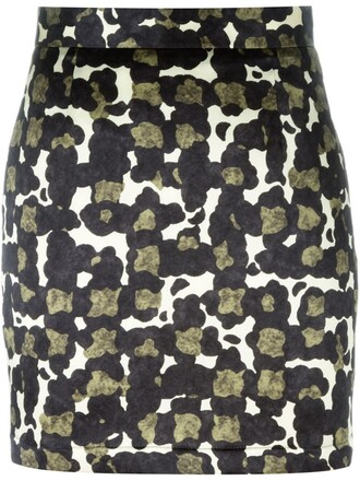 skirt mini skirt mini camouflage print