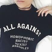 t-shirt,black,tumblr,hipster,gay pride,grunge