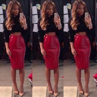 skirt pvc plastic skirt shiny