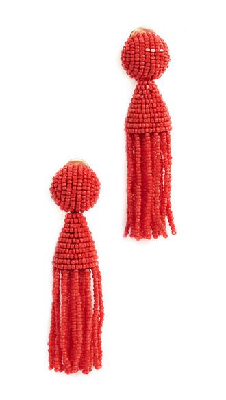 short tassel beaded earrings jewels