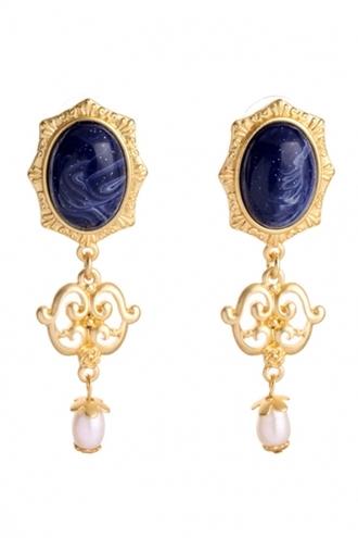 dress vintage drop earrings faux oval