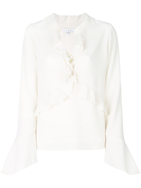 Iro blouse ruffle women white top