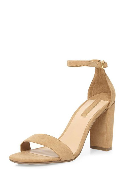 Shoes: barely there heels, strappy, strappy heels, nude strappy ...