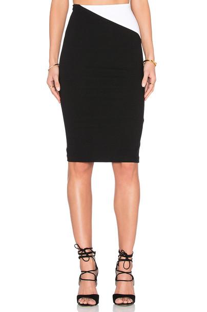 alice + olivia skirt white black