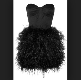dress little black dress black feathers feathered dress help plz instagram twitter crop tops