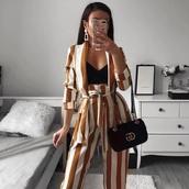 pants,blazer,outfit,stripes,yellow,mustard,glamour,fashion,shirt