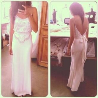dress white dress formal formal dress prom dress sequin dress maxi dress evening dress gown white