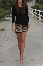 skirt,clothes,pattern,fashion,sequins,fancy,sweater,pencil skirt,shoes,blouse,black blouse,tribal pattern,aztec skirt,miniskrt,metallic,sparkle,chic,shimmer,rose gold,gold,silver,black,studs,michael kors,smile,design,style,beaded,tight,short,sequence,short skirt,bohemian,quilt,hippie,bedding,bedroom,jewels,sequin skirt,nude pumps,mini skirt,nude high heels,embroidered,sequined skirt,multicolored skirt,shirt,sequin short skirt bronze gold