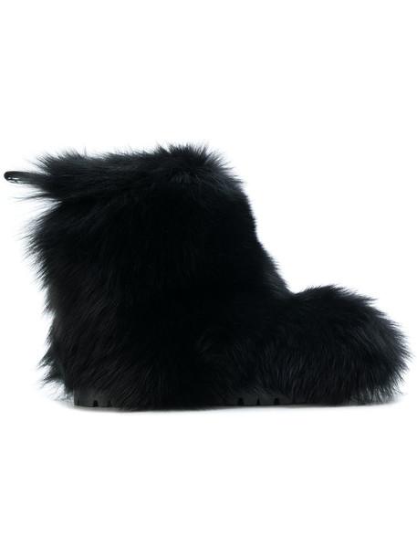 Jimmy Choo fur women leather black shoes