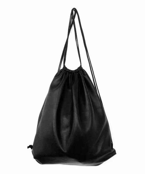 Bag: backpack, leather, leather backpack, black leather, black ...