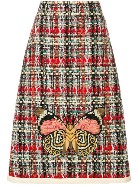 skirt embroidered women cotton silk wool