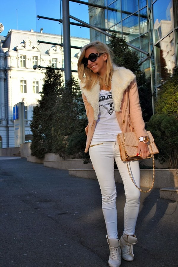 let's talk about fashion ! coat t-shirt bag jeans shoes jewels