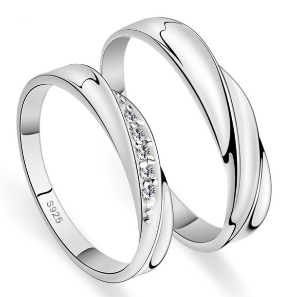 piece stainless sets wedding cz band bands steel eternity set r his hers ring and