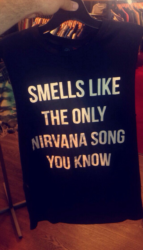 band nirvana tank top muscle tee