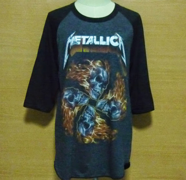 067810641 t-shirt, xlarge mens, design, metallica, t-shirt, vintage skeleton ...