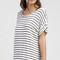 Stripe short sleeve tee dress - white/black
