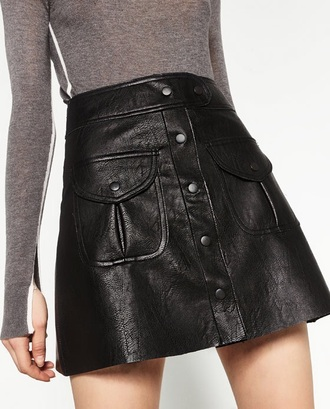 skirt faux leather leather black mini skirt leather skirt shirt
