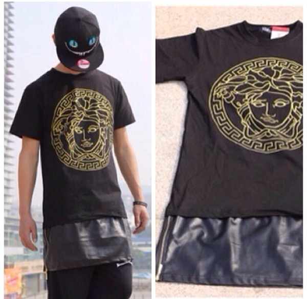 T Shirt Medusa Swag Tyga Menswear Mens T Shirt