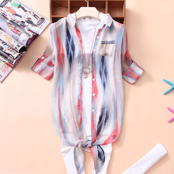colorful blouse casual t-shirts