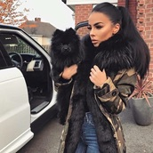 coat,black jacket,black,fourrure,womens parka,black parka,army green parka,army green jacket,army green winter coat,fur coat,army jacket coat military fur,long coat,winter coat