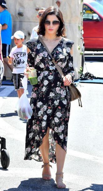dress floral floral dress sandals jenna dewan streetstyle spring outfits spring dress
