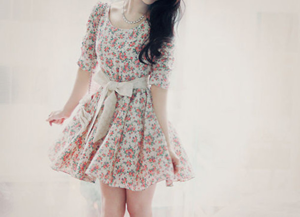 dress tumblr flowers old vintage