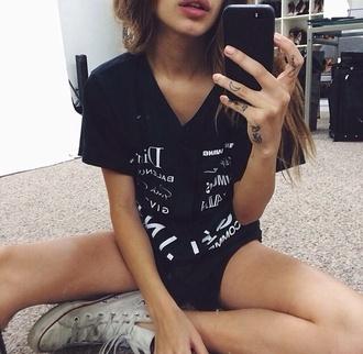 shirt black alexander wang comme des garçons baseball dior designer givenchy balenciaga brands print t-shirt