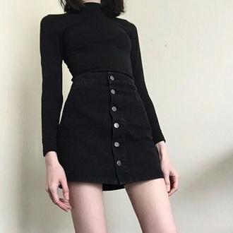 skirt fashion black skirt weheartit japanese skirt