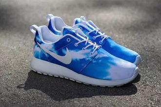 shoes nike nike running shoes blue nike fashion woman girl sportswear nike sport elmundodesage