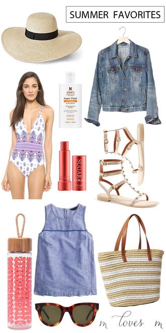 m loves m blogger hat jacket shoes bag sunglasses swimwear top